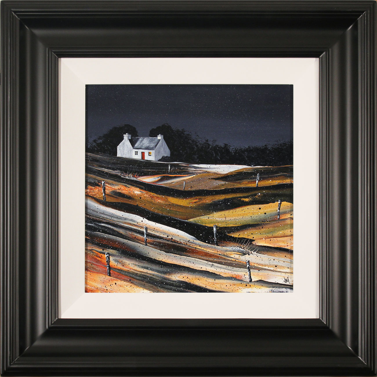 Jay Nottingham, Original oil painting on panel, Fisherman's Cottage. Click to enlarge