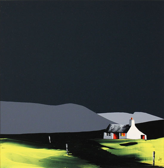 Jay Nottingham, Original oil painting on panel, South Downs Without frame image. Click to enlarge