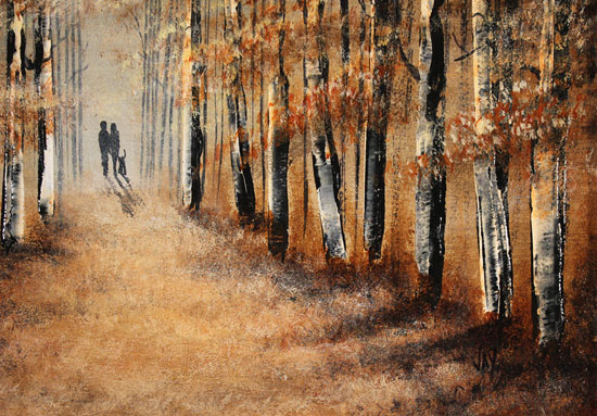 Jay Nottingham, Original oil painting on panel, A Walk in the Wood Signature image. Click to enlarge