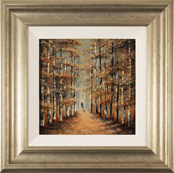 Jay Nottingham, Original oil painting on panel, A Walk in the Wood Large image. Click to enlarge