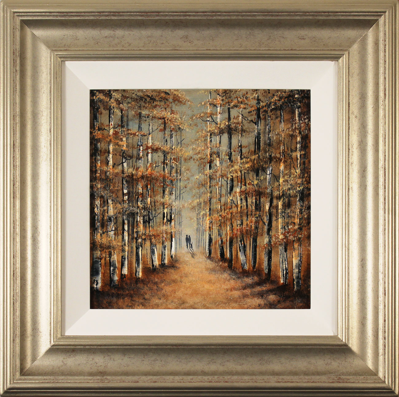 Jay Nottingham, Original oil painting on panel, A Walk in the Wood. Click to enlarge