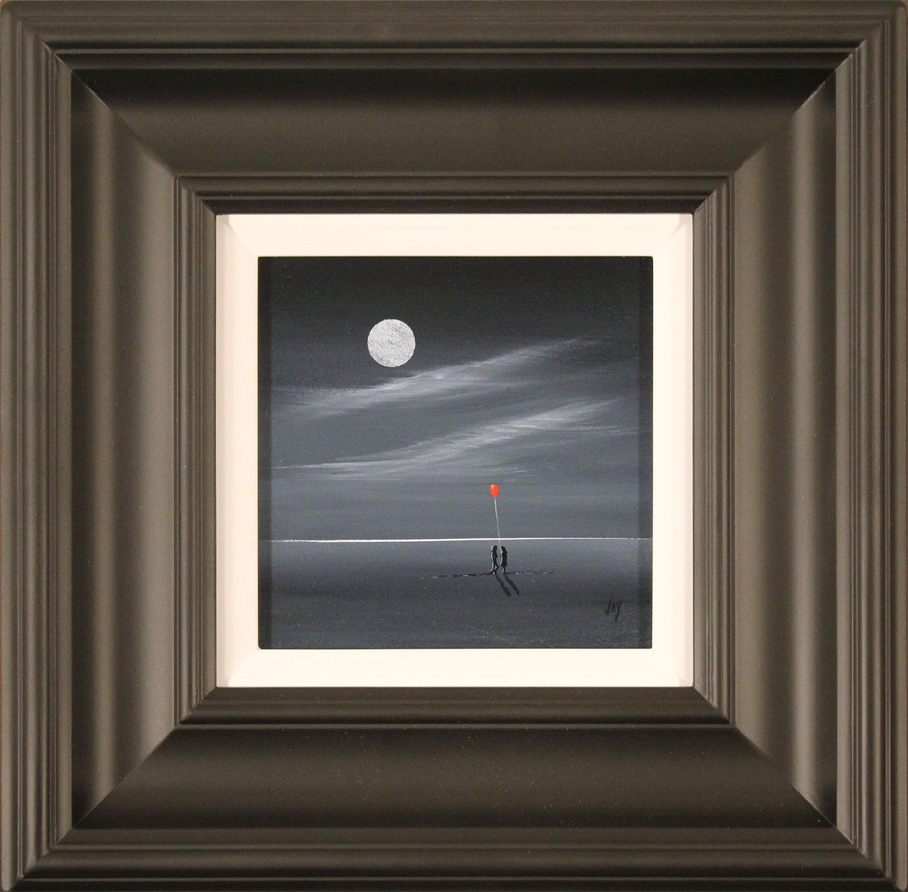 Jay Nottingham, Original oil painting on panel, Moonlight Meeting. Click to enlarge