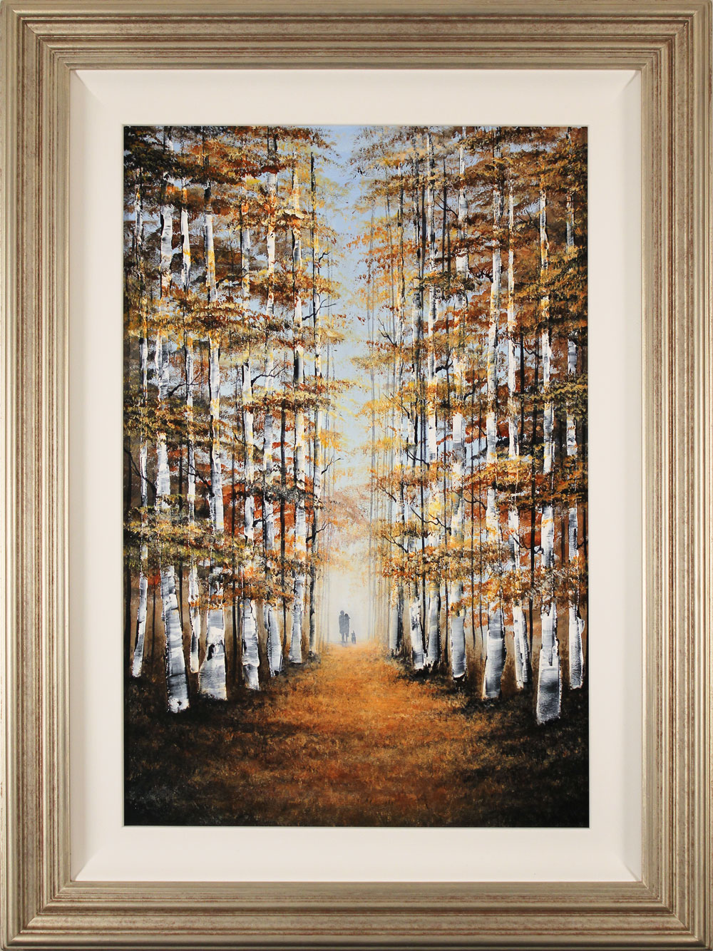 Jay Nottingham, Original oil painting on panel, Autumn Canopy. Click to enlarge