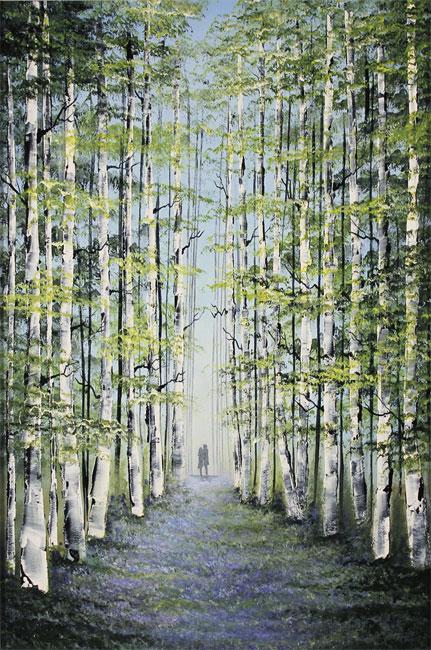 Jay Nottingham, Original oil painting on panel, Woodland Wander Without frame image. Click to enlarge