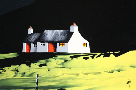 Jay Nottingham, Original oil painting on panel, Swaledale Cottage, Yorkshire Signature image. Click to enlarge