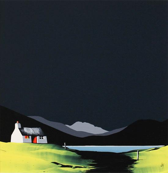 Jay Nottingham, Original oil painting on panel, Spider Web Cottage Without frame image. Click to enlarge