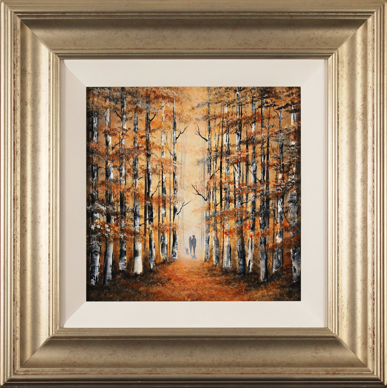 Jay Nottingham, Original oil painting on panel, Autumn Stroll, click to enlarge