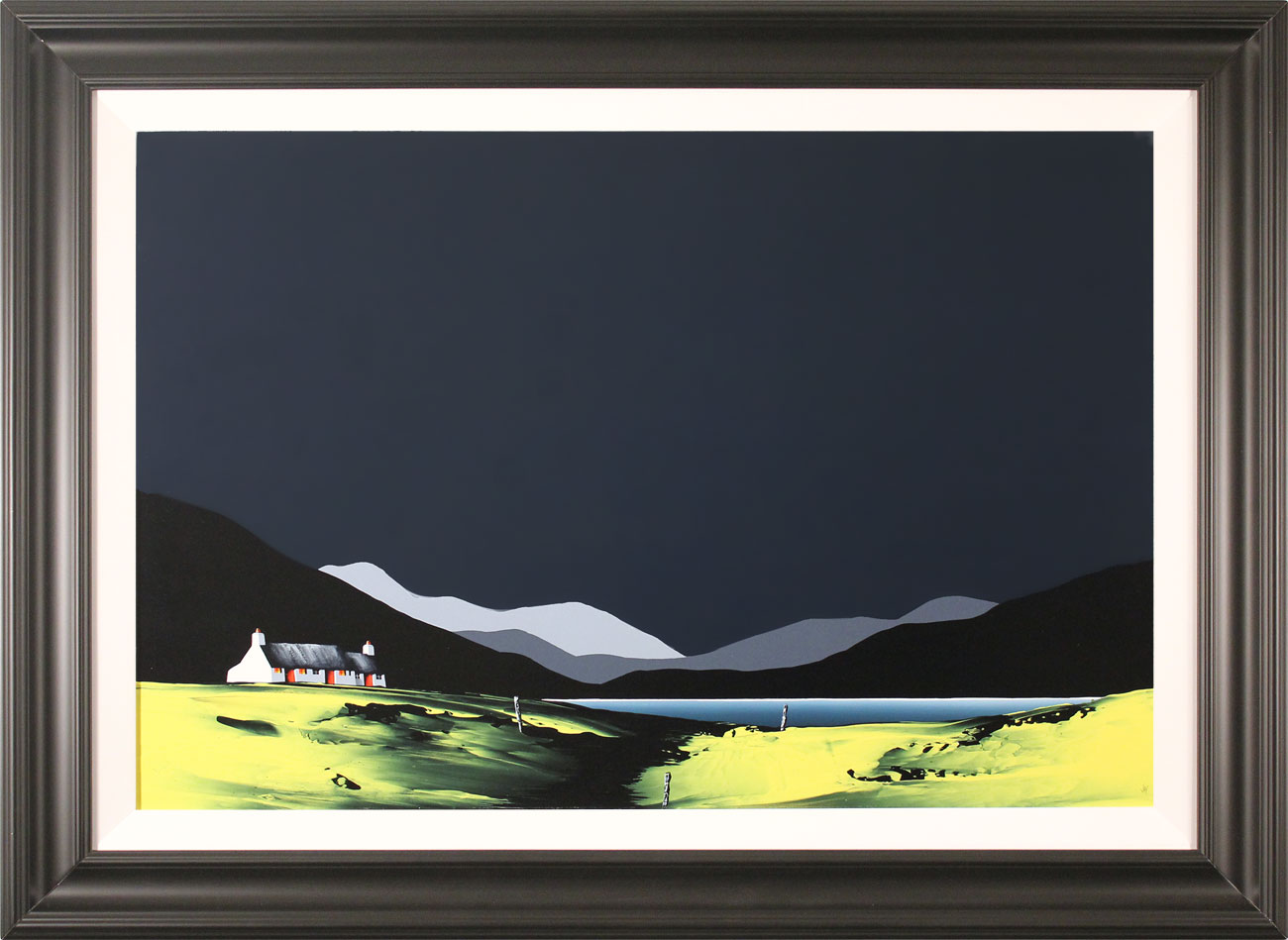 Jay Nottingham, Original oil painting on panel, Holly Bush Cottage, click to enlarge