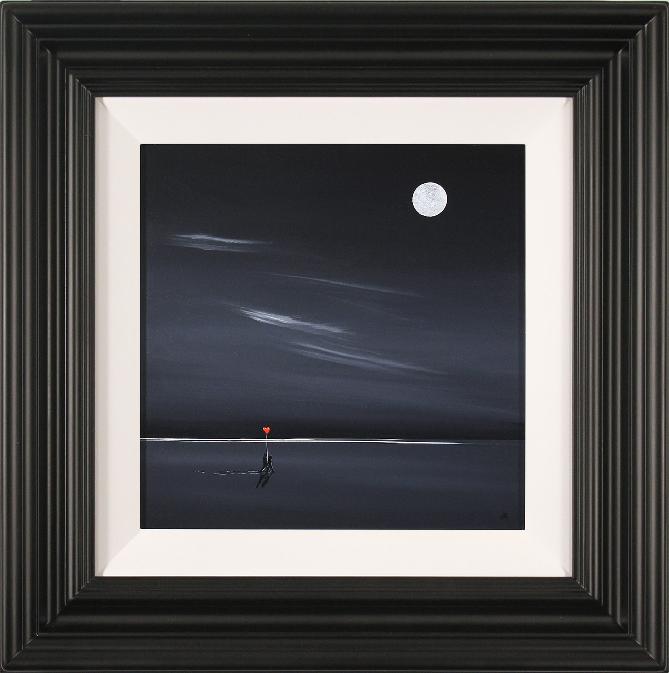 Jay Nottingham, Original oil painting on panel, Midnight Stroll , click to enlarge