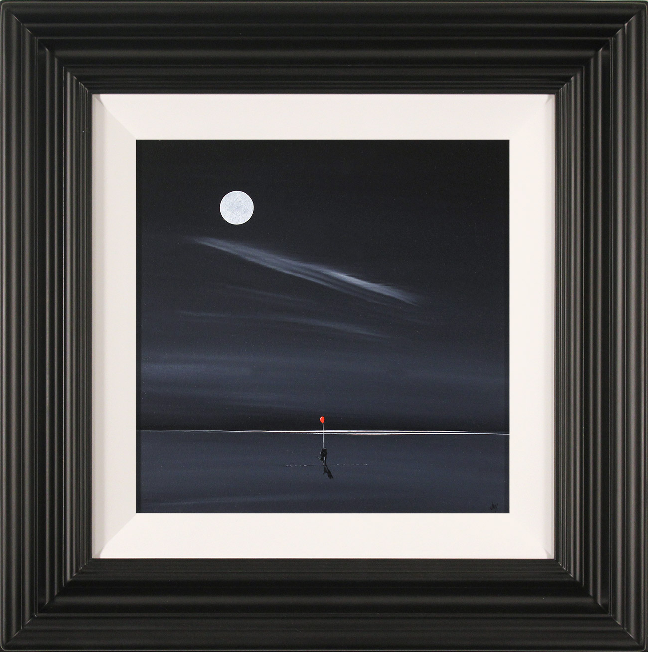 Jay Nottingham, Original oil painting on panel, Moonlight Kiss , click to enlarge