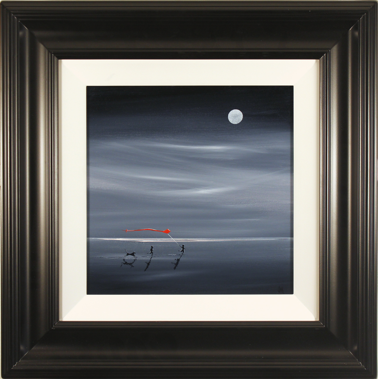 Jay Nottingham, Original oil painting on panel, Moonlight Games, click to enlarge