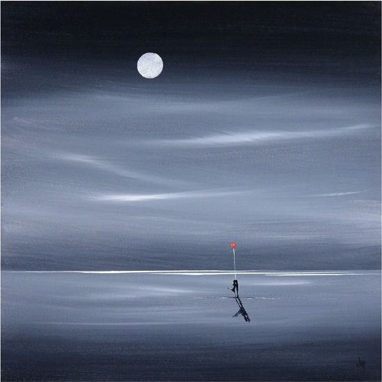 Jay Nottingham, Signed limited edition print, Moonlight Stroll No frame image. Click to enlarge