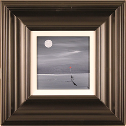 Jay Nottingham, Original oil painting on panel, Moonlight Stroll