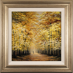 Jay Nottingham, Original oil painting on panel, Autumn Stroll