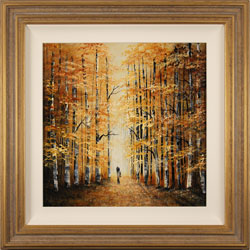 Jay Nottingham, Original oil painting on panel, Autumn Wood