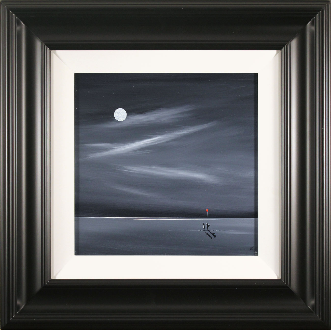 Jay Nottingham, Original oil painting on panel, By The Light Of The Moon. Click to enlarge