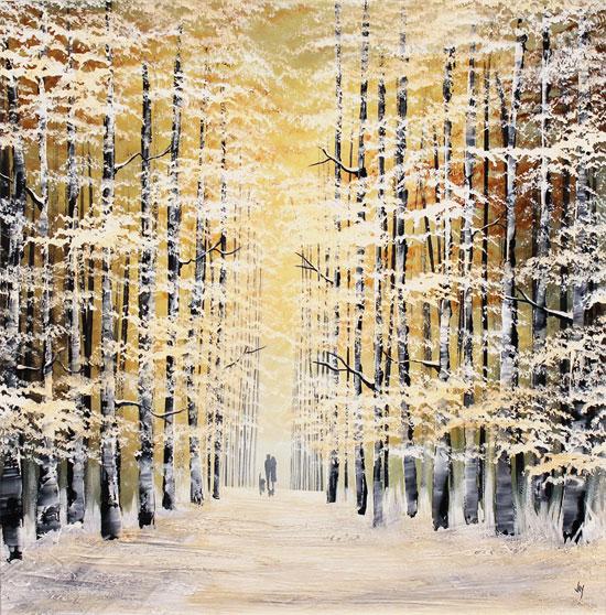 Jay Nottingham, Original oil painting on panel, Winter Wood