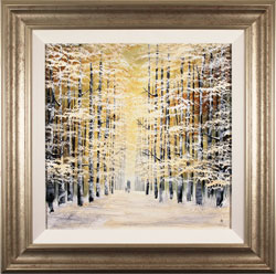 Jay Nottingham, Original oil painting on panel, Winter Wood