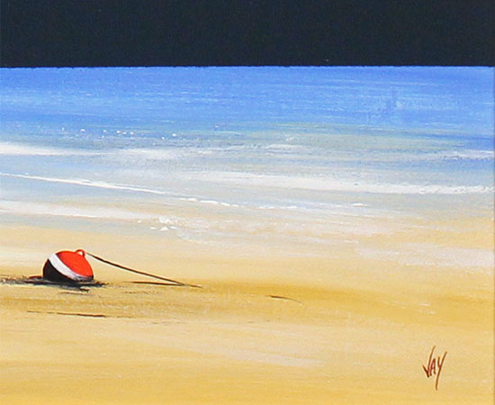 Jay Nottingham, Original oil painting on panel, Low Tide