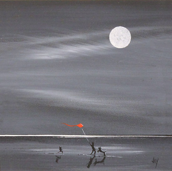 Jay Nottingham, Original oil painting on panel, Moonlight Games