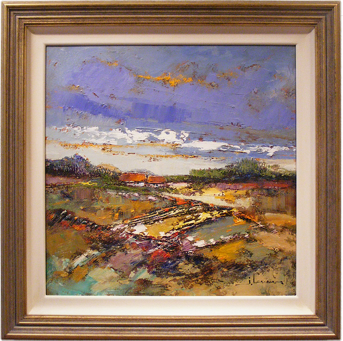 Jef Lenaers, Original oil painting on canvas, Abstracted Landscape. Click to enlarge