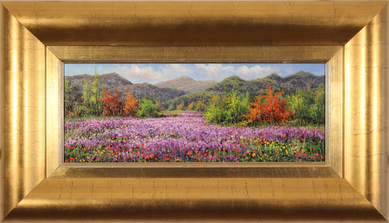 Joan Coloma, Original oil painting on canvas, Paisaje con Lilas (Landscape with Lilacs), click to enlarge