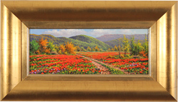 Joan Coloma, Original oil painting on canvas, Campo de Amapolas (Field of Poppies)