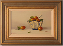 Johannes Eerdmans, Original oil painting on panel, Plums in China
