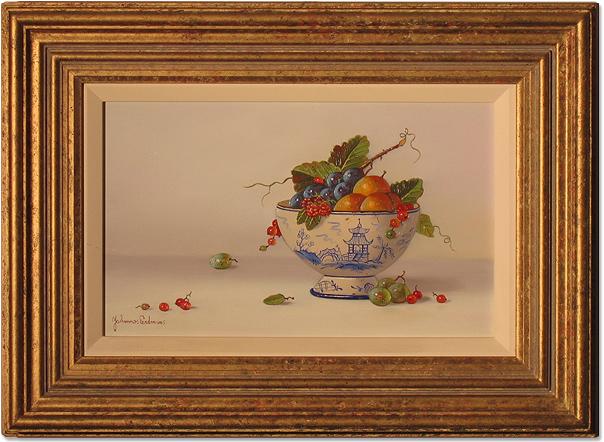 Johannes Eerdmans, Original oil painting on panel, Mixed Berries, click to enlarge