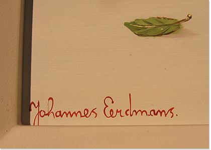 Johannes Eerdmans, Original oil painting on panel, Cherries Signature image. Click to enlarge