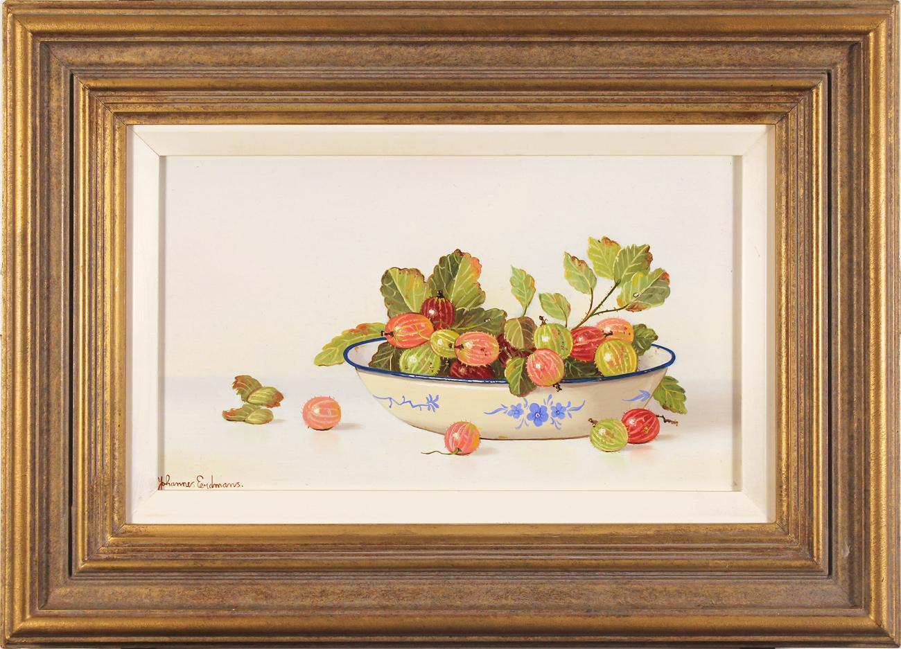 Johannes Eerdmans, Original oil painting on panel, Berries, click to enlarge