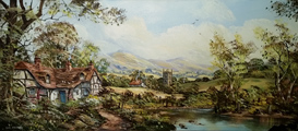 John Corcoran, Original oil painting on canvas, British landscape