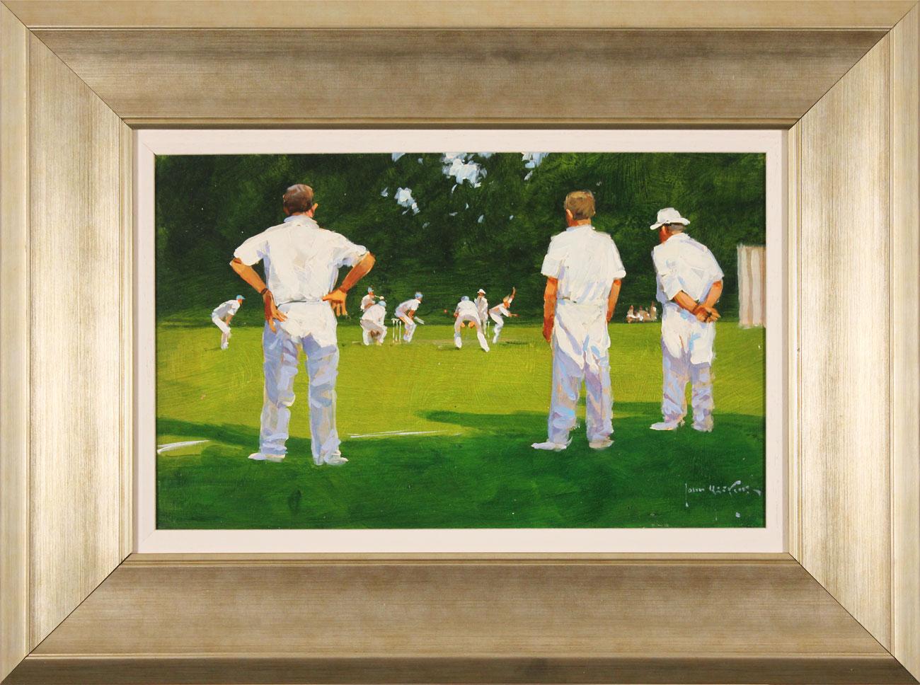 John Haskins, Original oil painting on panel, Last Man In, click to enlarge