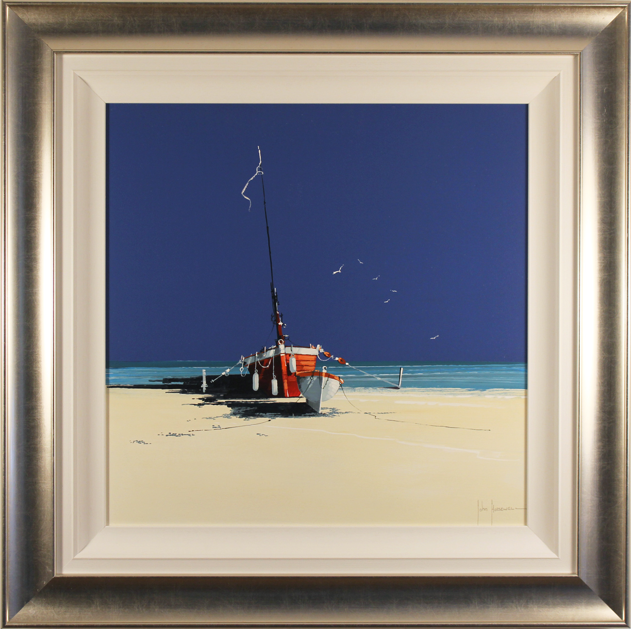 John Horsewell, Original oil painting on panel, The Castaways, click to enlarge