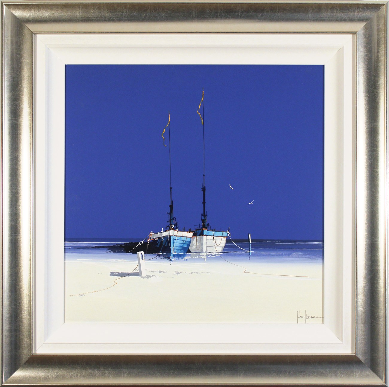 John Horsewell, Original acrylic painting on board, Pacific Dreams, click to enlarge