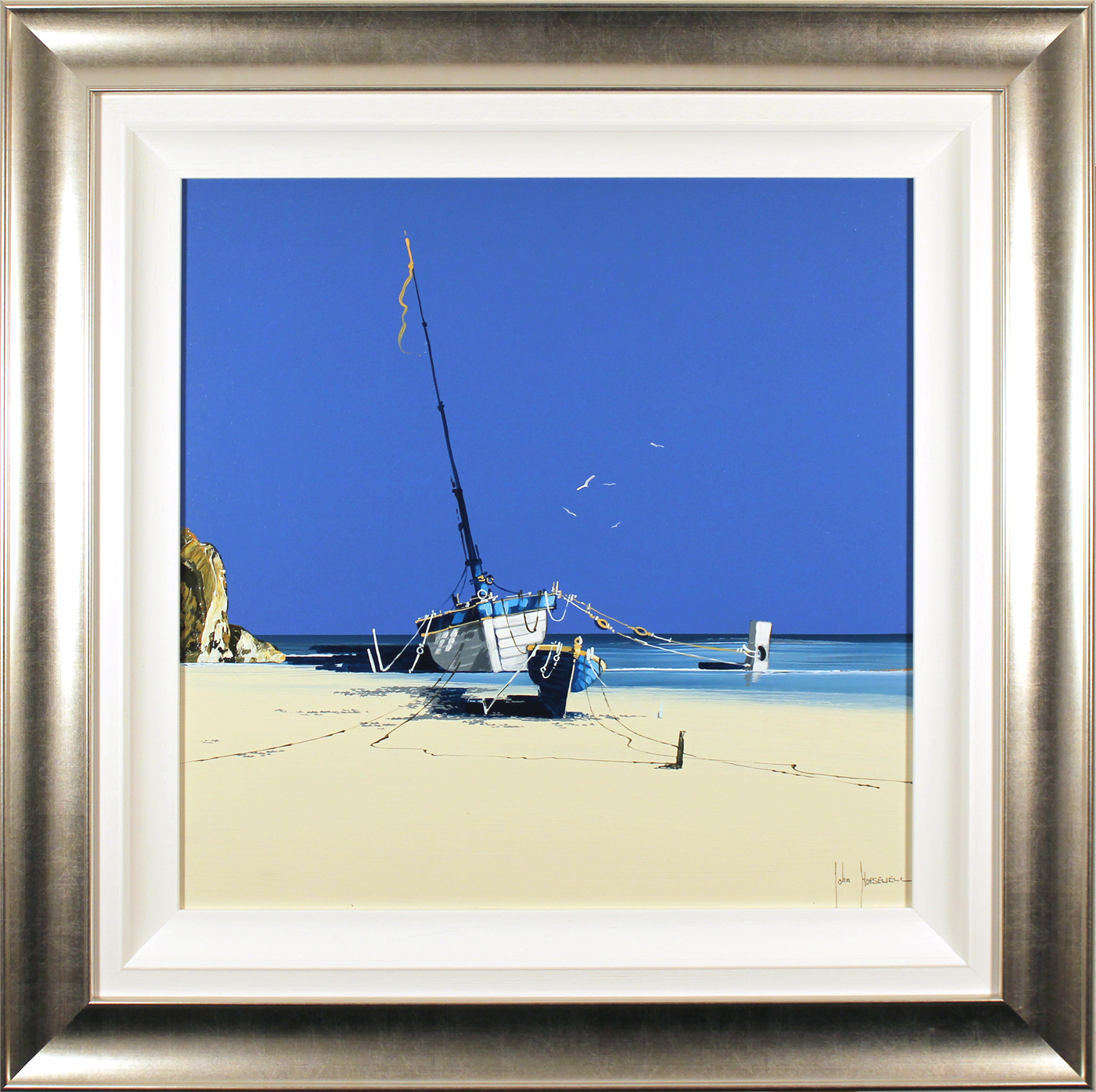 John Horsewell, Original acrylic painting on board, Coastline Dream, click to enlarge