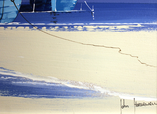 John Horsewell, Original acrylic painting on board, Serenity Sands Signature image. Click to enlarge