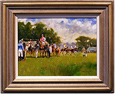 John Haskins, Original oil painting on panel, Point to Point