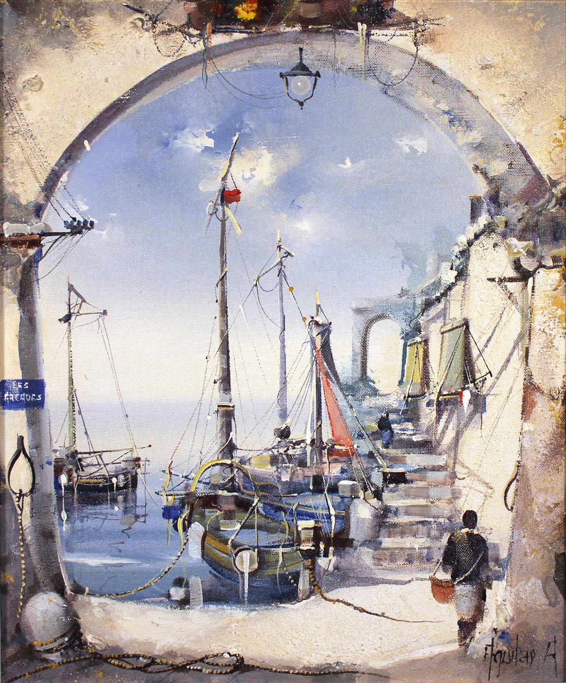 Jorge Aguilar Agon, Original oil painting on canvas, Through the Arch. Click to enlarge
