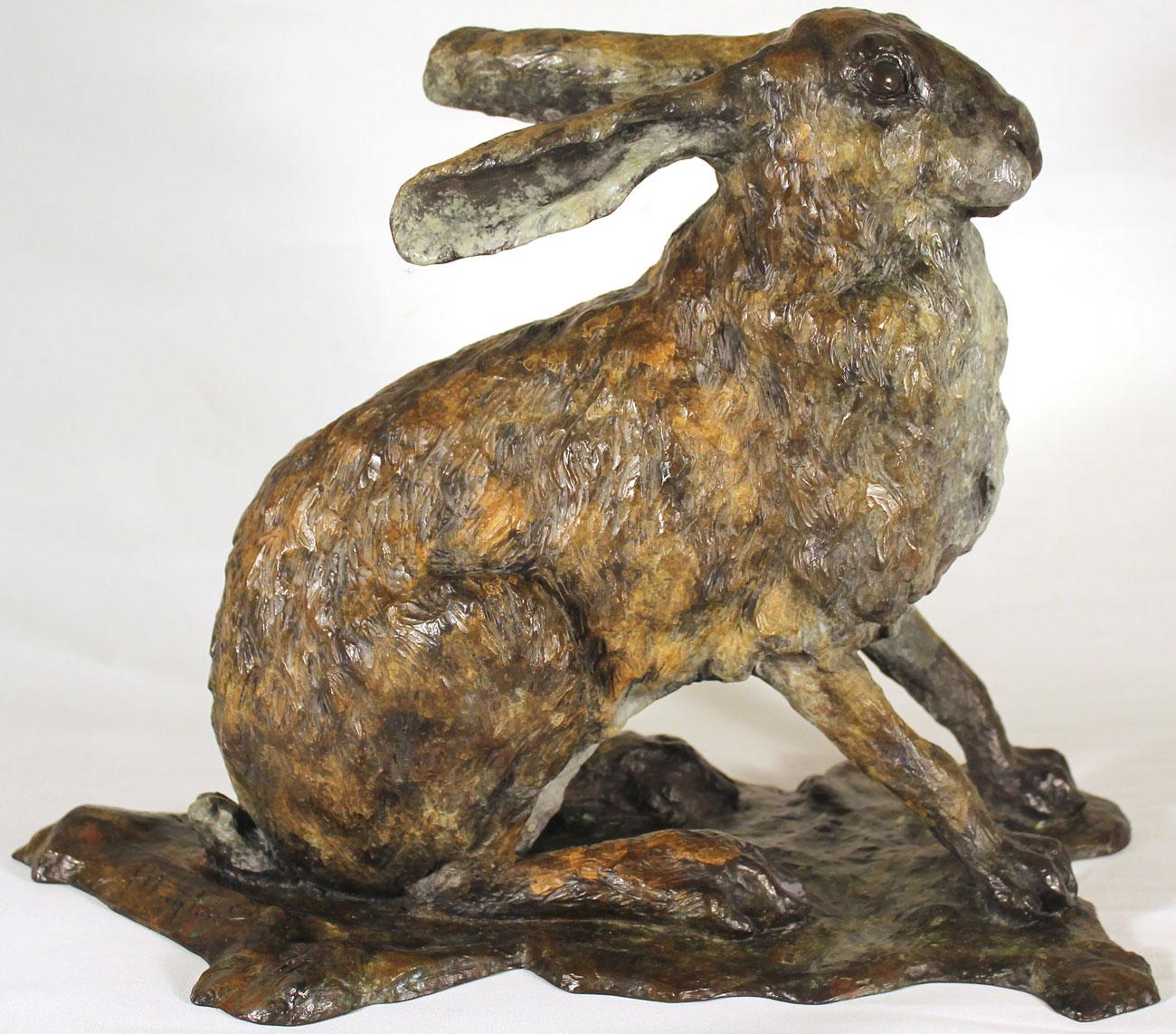 Joseph Hayton, Bronze, Hare. Click to enlarge