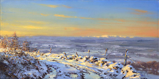 Julian Mason, Original oil painting on canvas, Winter Light Without frame image. Click to enlarge