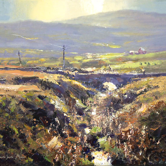 Julian Mason, Original oil painting on canvas, Goldstitch Moss Without frame image. Click to enlarge