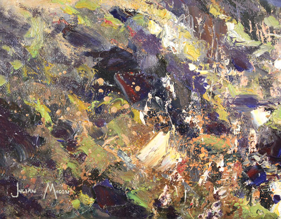 Julian Mason, Original oil painting on canvas, Goldstitch Moss Signature image. Click to enlarge