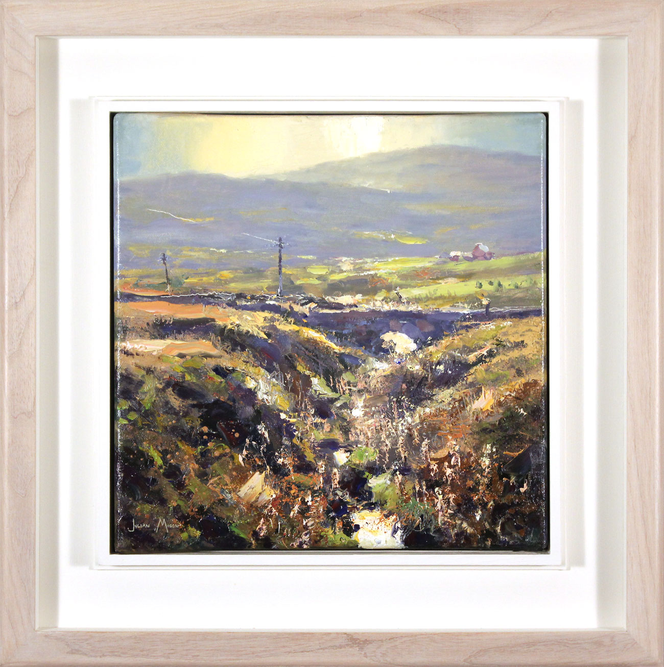 Julian Mason, Original oil painting on canvas, Goldstitch Moss. Click to enlarge