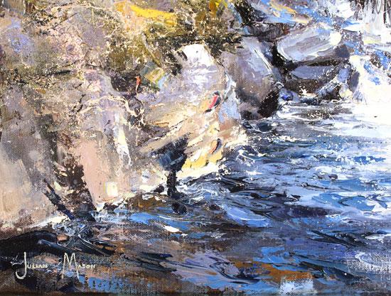 Julian Mason, Original oil painting on canvas, Allt Coire Lagan, Skye Signature image. Click to enlarge