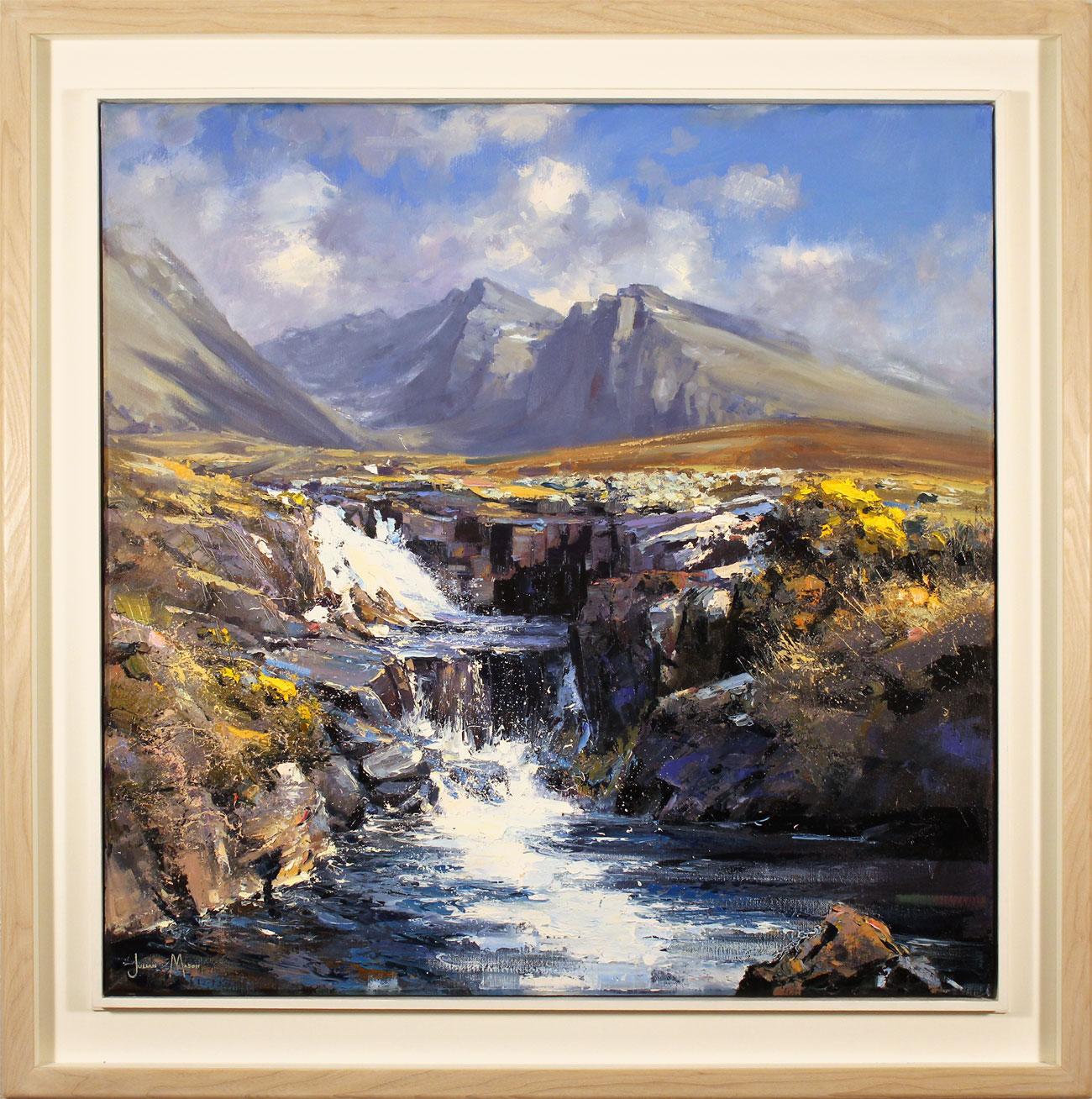 Julian Mason, Original oil painting on canvas, Allt Coire Lagan, Skye. Click to enlarge