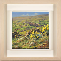 Julian Mason, Original oil painting on canvas, Spring, Middlesmoor Large image. Click to enlarge