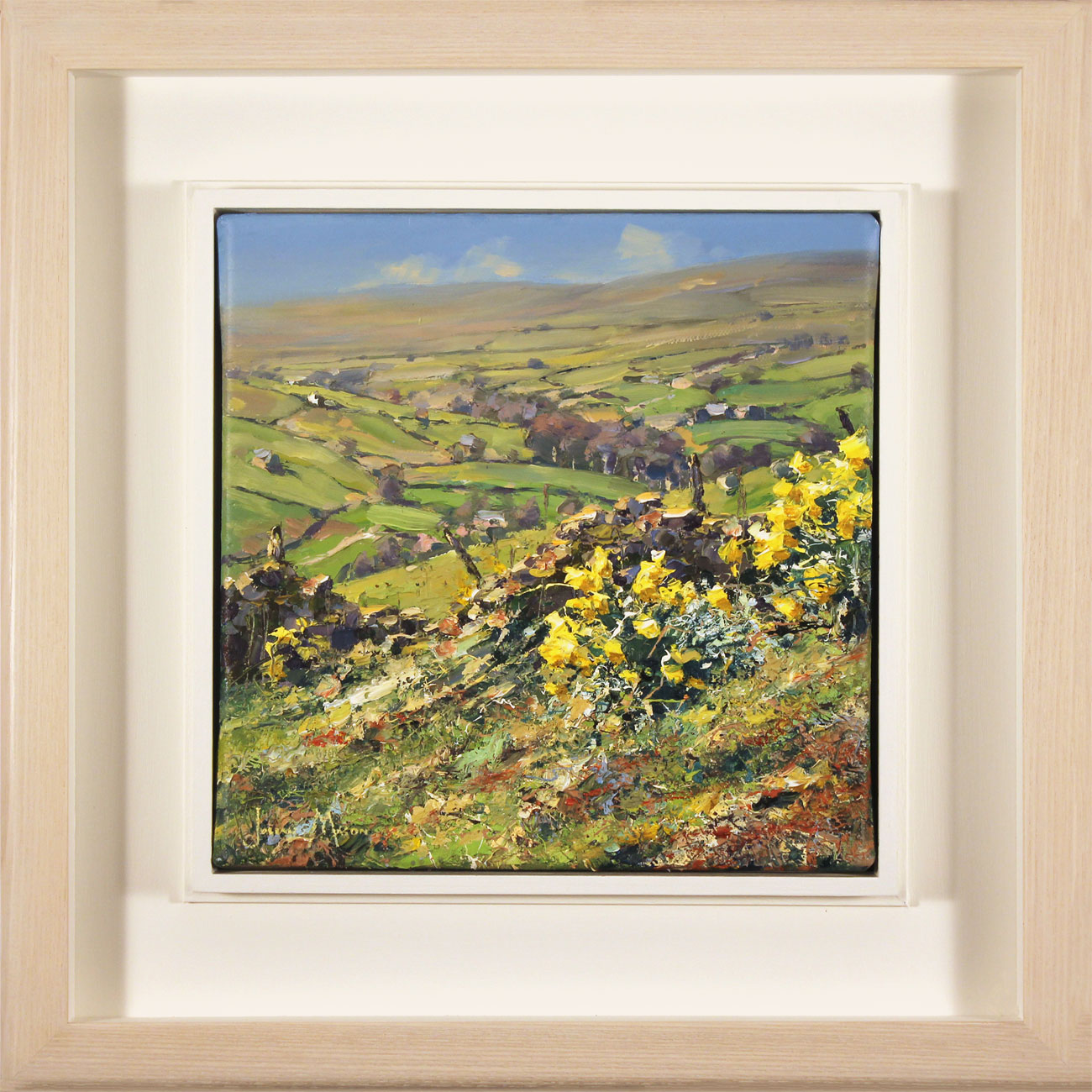 Julian Mason, Original oil painting on canvas, Spring, Middlesmoor. Click to enlarge