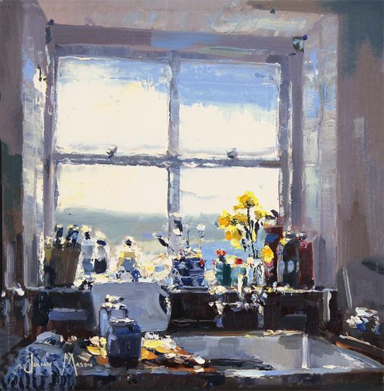 Julian Mason, Original oil painting on canvas, Studio View