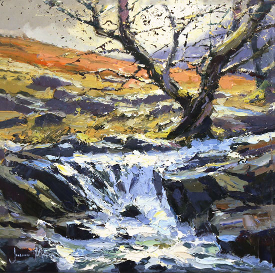 Julian Mason, Original oil painting on canvas, High Force
